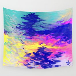 Neon Mimosa Inspired Painting Wall Tapestry