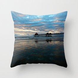Huntington Beach Sunset 11/20/13    Throw Pillow