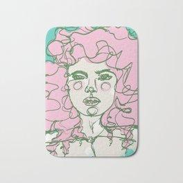Pink Mermaid Curls Bath Mat