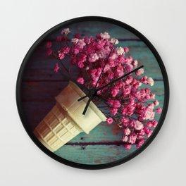 flower cone I Wall Clock