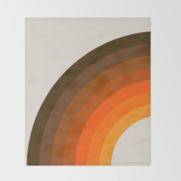 Retro Golden Rainbow - Left Side Throw Blanket