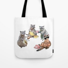 Racoon Tea Party Tote Bag