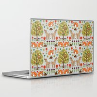 wild things Laptop & iPad Skins featuring Woodland Wild Things by Angie Spurgeon