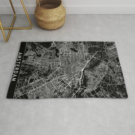 Amsterdam Black Map Rug
