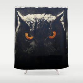 owl look digital painting orcfnd Shower Curtain