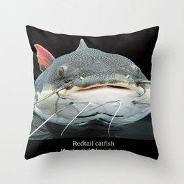 Redtail catfish Throw Pillow
