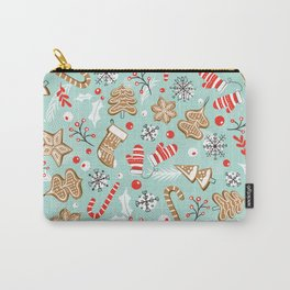Gingerbread Dreams - Aqua Carry-All Pouch