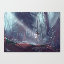 How to be a Werewolf: Malaya in the Forest Canvas Print