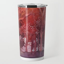 Alberi rossi nel bosco Travel Mug