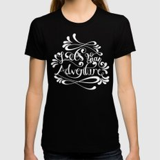 Adventure Womens Fitted Tee Black SMALL
