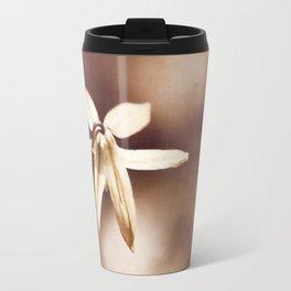 Copper Nature Photography, Modern Brown Minimalism Flower Art, Copper Botanical Minimal Print Travel Mug