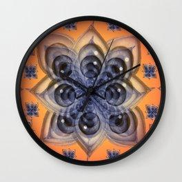 Entheogenic Eyes Wall Clock