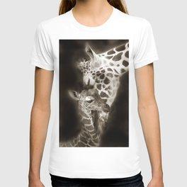 Baby Giraffe and Mother T-shirt