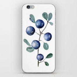 Blackthorn Blue Berries iPhone Skin
