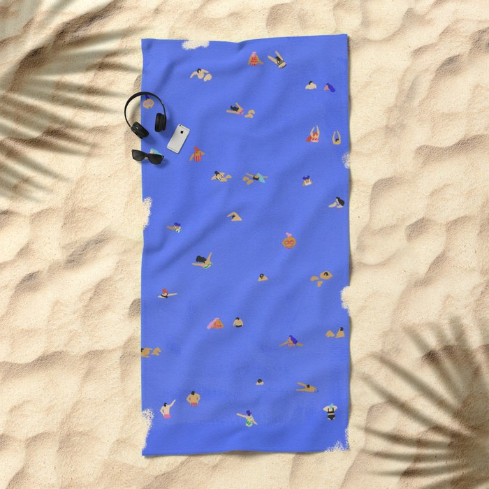 Electric blue Beach Towel