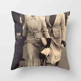 Caught off guard by a street photographer - the war years Throw Pillow
