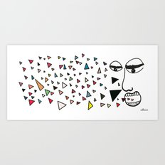 Sick of happiness Art Print