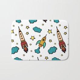 Colorful spaceshuttle in universe Bath Mat