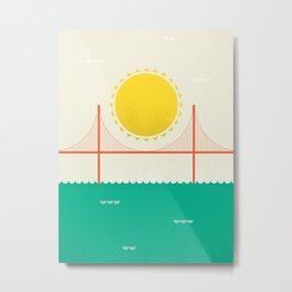 Sunny SF Metal Print