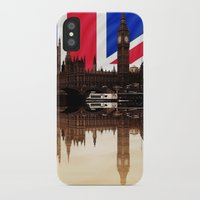 british flag iPhone & iPod Cases featuring British politics by Shalisa Photography