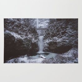 Winterland Waterfall #society6 Rug