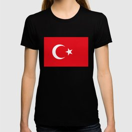 National flag of Turkey, Authentic color & scale T-shirt