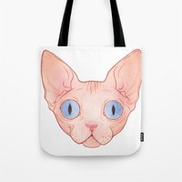 sphynx Tote Bags featuring Sphynx by Delia Evin