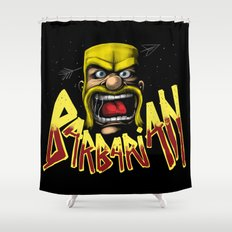 Barbarian Shower Curtain