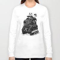 panda Long Sleeve T-shirts featuring Panda by Ronan Lynam