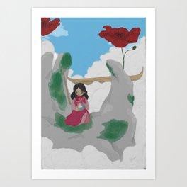 COQUELICOT / L'offrande Art Print