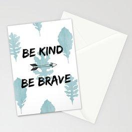 Be Kind Be Brave Stationery Cards