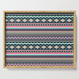 Colorful Aztec Tribal Pattern Serving Tray