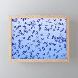 Blue Stars Framed Mini Art Print
