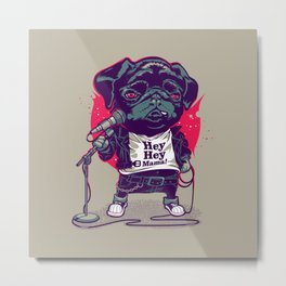 Black Dog Metal Print