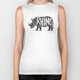 Rhino in tribal style Biker Tank