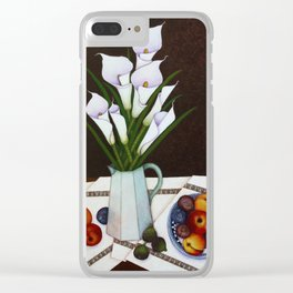 Still life with Callas Clear iPhone Case