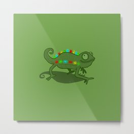 Leddy Lizzard Metal Print