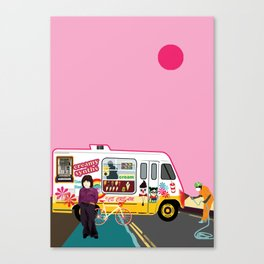 Ice Cream and Synth Canvas Print