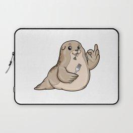 Seal at eating Fish Laptop Sleeve