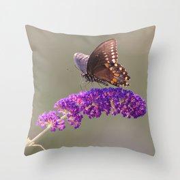 Papillon Sur Fleur Throw Pillow