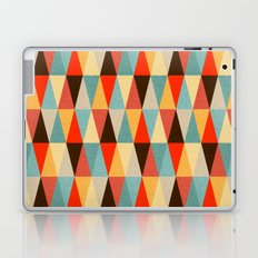 Red & Brown Geometric Triangle Pattern Laptop & iPad Skin