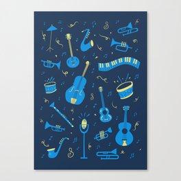 The Spirit of Jazz Pattern Canvas Print