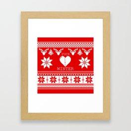 f&*k winter Framed Art Print