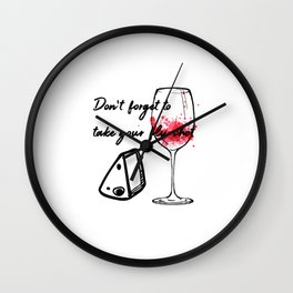 Don't Forget To Take Your Flu Shot Glass & Cheese Wall Clock