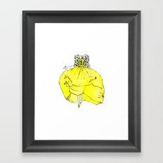 Voluminous Yellow Runway Dress   Print from Original watercolor Painting Framed Art Print