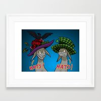 hats Framed Art Prints featuring Hats! by avsaroke