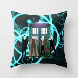 Tardis Shine The Doctor Throw Pillow