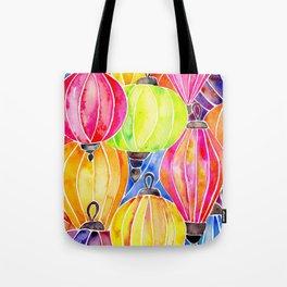 Vietnamese Rainbow Lanterns Tote Bag