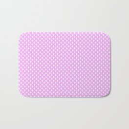 Tiny Paw Prints Pretty Pink Pattern Bath Mat