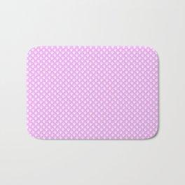 Tiny Paw Prints Pretty Pink Pattern Bath Mat